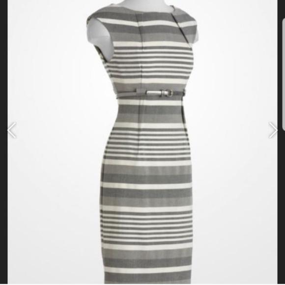Calvin Klein Dresses & Skirts - Calvin Klein grey and white striped sheath dress